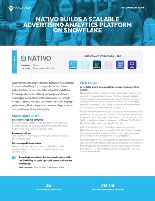 Nativo Builds a Scalable Advertising Analytics Platform on Snowflake