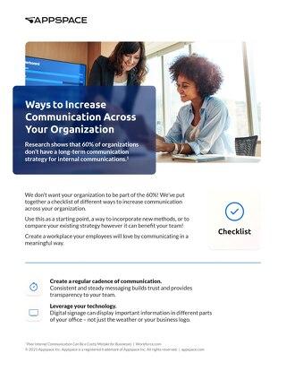 Employee Communications Checklist