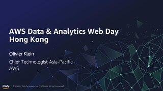 AWS Data & Analytics Web Day Opening Keynote