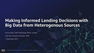 Making informed lending decision by big data
