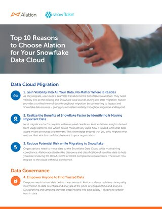 Top 10 Reasons to Choose Alation for Your Snowflake Data Cloud