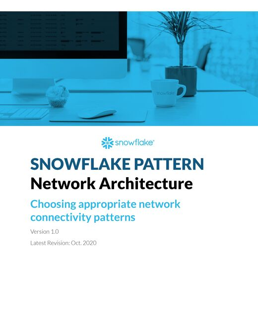 Snowflake Pattern - Security - Network Architecture