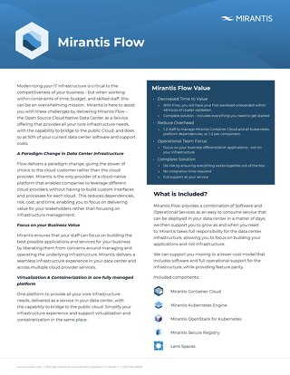 Mirantis Flow Datasheet