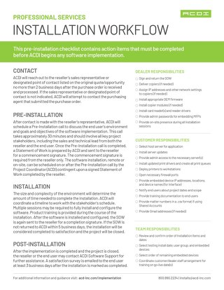 PSD Installation Workflow