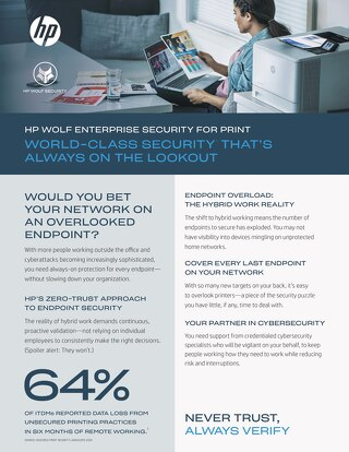 HP Enterprise Security for Print - Brief