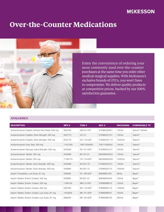 McKesson over-the-counter medications catalog