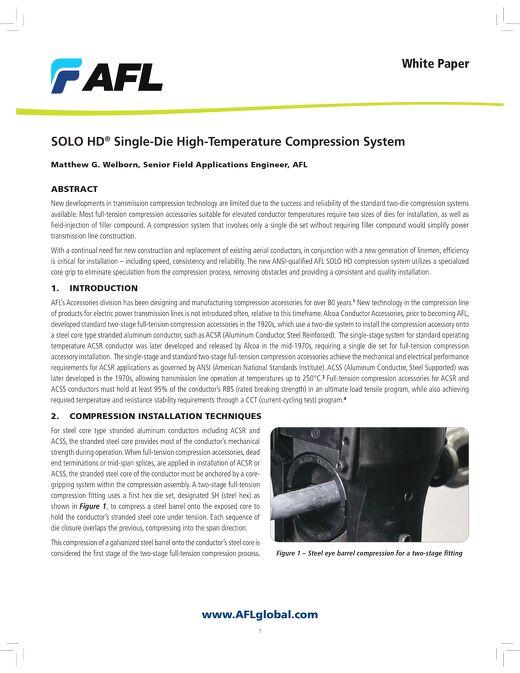 SOLO HD™ Single-Die High-Temperature Compression System