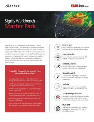 Sigrity Workbench Starter Pack