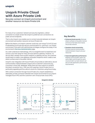 Unqork Private Cloud with Azure Private Link