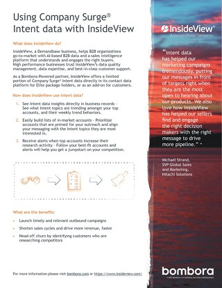 InsideView - Partner Information Sheet