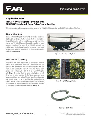 Application Note: TITAN RTD® Multiport Terminal and TRIDENT® Hardened Drop Cable Stubs Routing