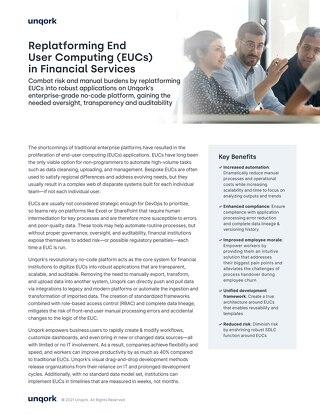 Replatforming End User Computing