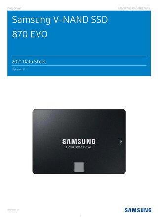 Samsung V-NAND SSD 870 EVO-2021 Data Sheet-Samsung Proprietary