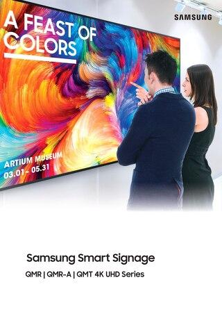 Samsung Smart Signage QMR QMR-A QMT 4K UHD Series Brochure