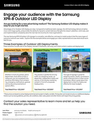 Samsung Outdoor Direct-View LED XPR-B Display