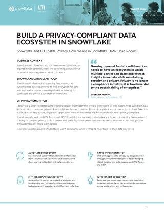 Build A Privacy-Compliant Data Ecosystem in Snowflake