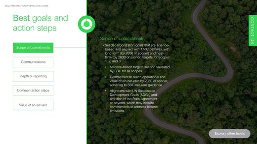 Interactive Guide to Best Decarbonization