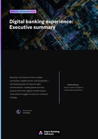 Digital banking experience: Executive summary