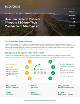 EcoVadis Sustainable Finance Solution Brochure