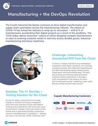 Manufacturing + the DevOps Revolution
