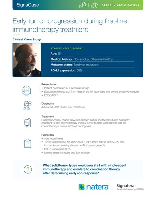 Early tumor progression during first-line immunotherapy treatment