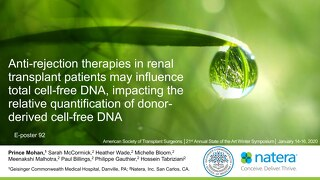Anti-rejection therapies in renal transplant patients may influence total cell-free DNA, impacting the relative quantification of donorderiv
