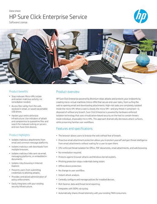 HP Sure Click Enterprise Service
