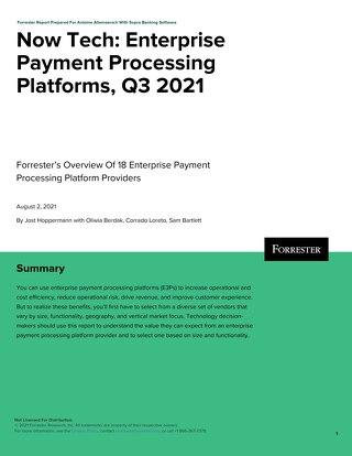 Now Tech Enterprise Payment Processing Platforms Q3 2021