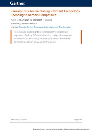 Banking CIOs Are Increasing Payment Technology Spending to Remain Competitive