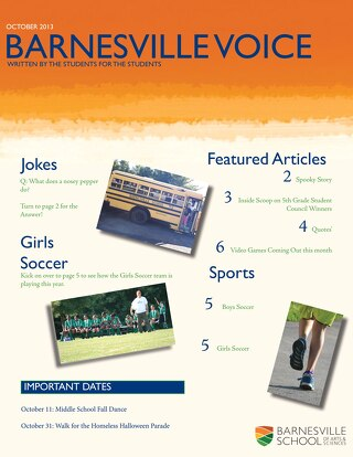 October Issue of the Barnesville Voice