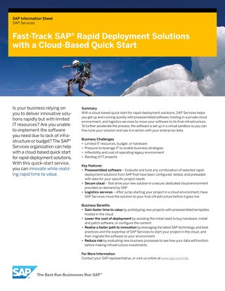 Cloud based quick start for RDS