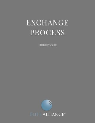 Exchange Process Guide for Members