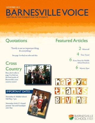 Student Newsletter November