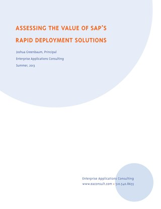 Assessing the Value of SAP RDS - EAC report final