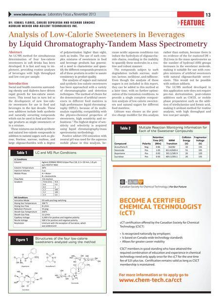 Promotive Communications - Laboratory Focus November 2013