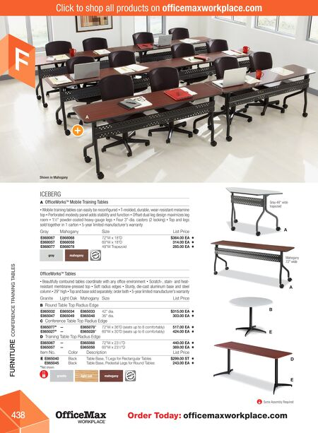 OfficeMax Office Products Catalog - Office max conference table