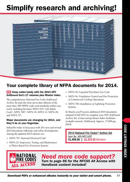 Nfpa 1 fire code handbook 2012 ebook array nfpa nfpa codes u0026 standards 2014 winter catalog rh e digitaleditions com fandeluxe Image collections