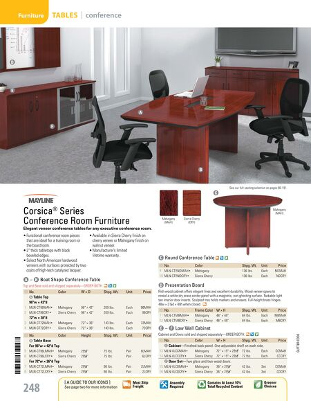 OfficeMax Furniture InStock Furniture Catalog - Office max conference table