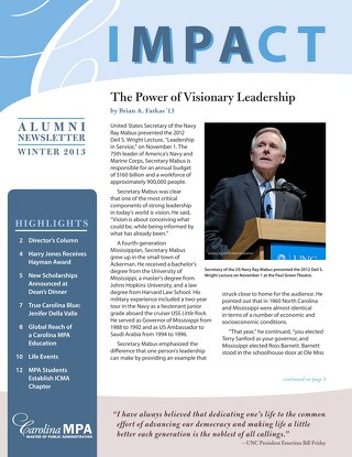 Impact Newsletter Fall 2012