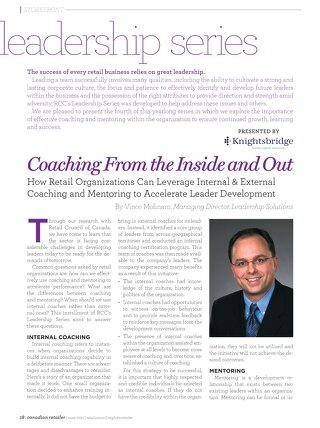 Retail Council of Canada Leadership Series: Coaching From the Inside Out - October 2011