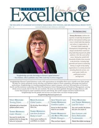 Leadership Excellence Vol. 30 - April 2013