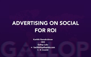 Advertising On Social For ROI