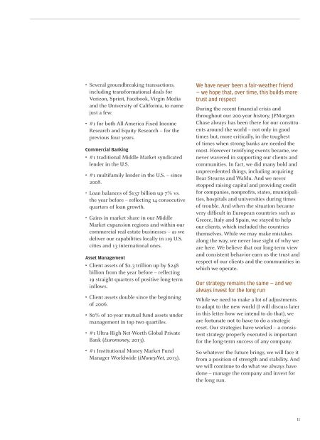 j p morgan jpmorgan chase co annual report and letters to
