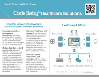 CodeBaby Healthcare Solutions Data Sheet for Providers and Payers