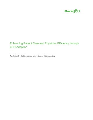 Enhancing Patient Care and Physician Efficiency