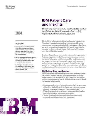 IBM Patient Care and Insights