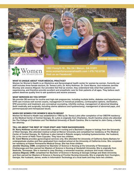Women for women macon ga