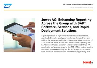 Jowat AG: Enhancing Reporting Across the Group with SAP Software, Services, and Rapid-Deployment Solutions