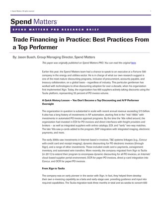 Article: Top Performer Case Study