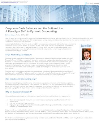 Article: Paradigm Shift to Dynamic Discounting
